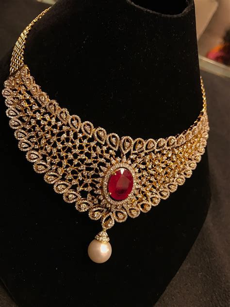 ruby bridal necklace   indian wedding jewellery in 2019