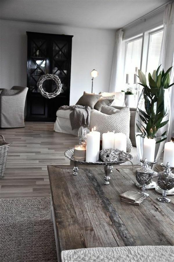 Wohnzimmer Tischdeko Silber