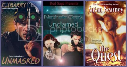 Unmasked C.J. Barry The Quest Susan Kearney Unclaimed Nathalie Gray