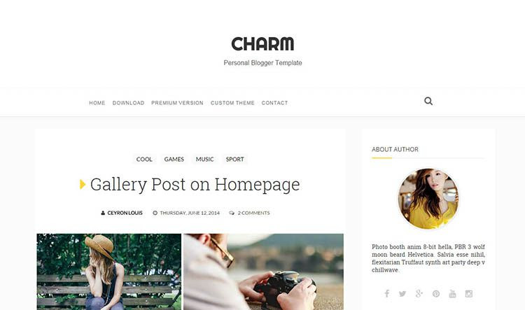 Charm Responsive Blogger Template