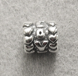 Spacer Bead-Love Hearts