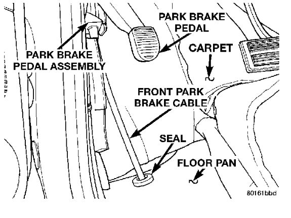 brake cable assembly