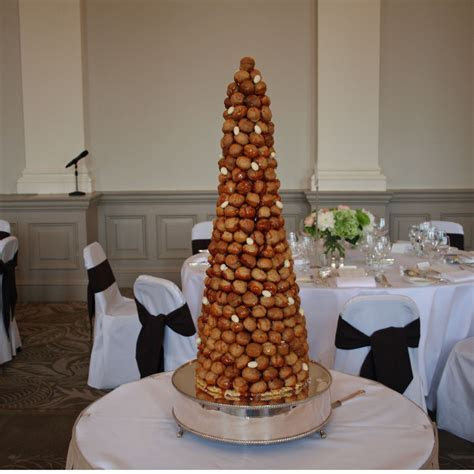 French Croquembouche with Almonds French Croquembouche