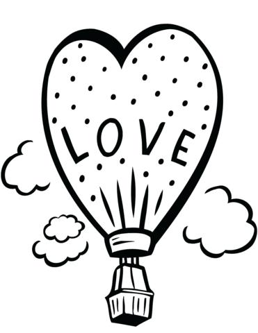 Dibujo De Globo De Amor Para Colorear Dibujos Para Colorear