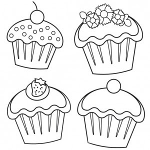 cupcake coloring pages for kids at getdrawings  free download