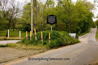 The Grave in the Middle of the Road, Johnson County, Indiana