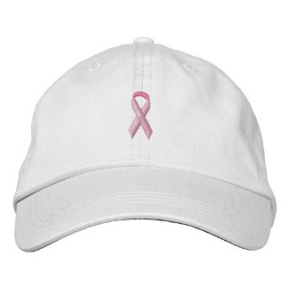 Pink Awareness Ribbon embroideredhat
