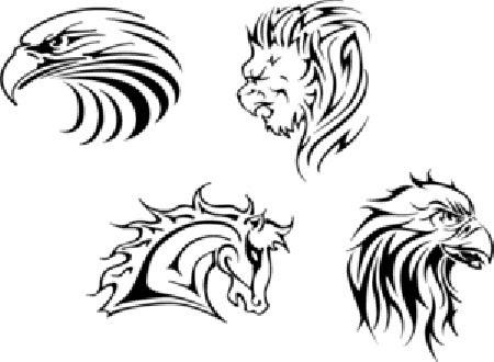 Tatuajes Vectorizados Para Descargar Gratis De Animales Tribales