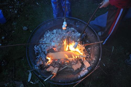 the first backyard bonfire of the season