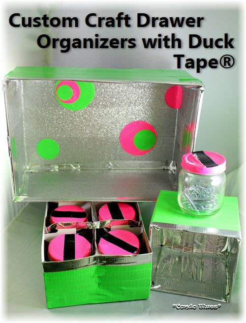 Custom Craft Drawer Organizers with Duck Tape