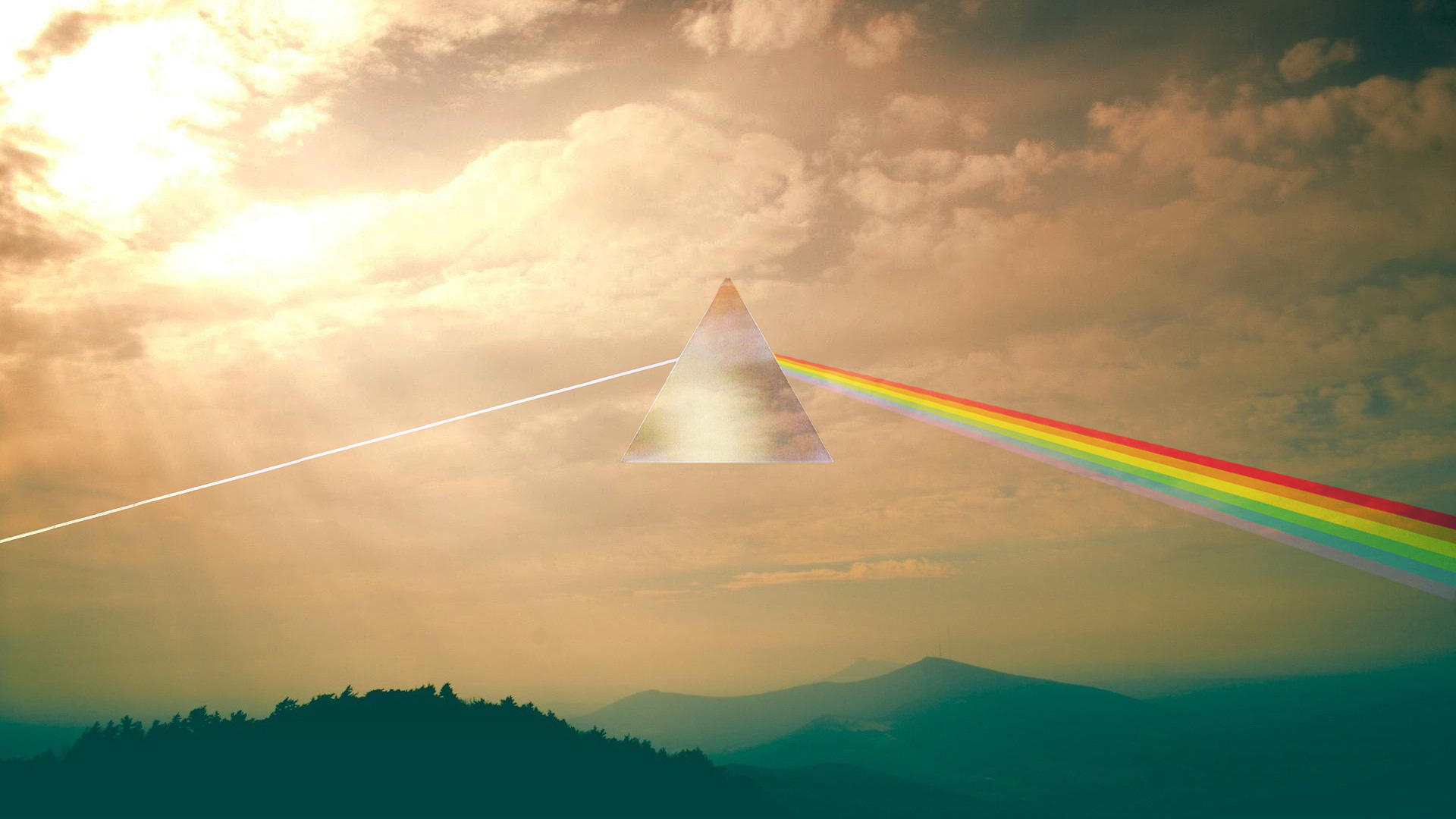 Dark Side Of The Moon Inspired Wallpaper Oc 1920x1080 Pinkfloyd