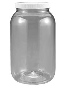 1 Gallon Plastic Jar Wide Mouth Clear With Lined Seal Lid