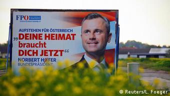 Österreich Präsidentschaftswahlen Norbert Hofer FPÖ Wahlplakat