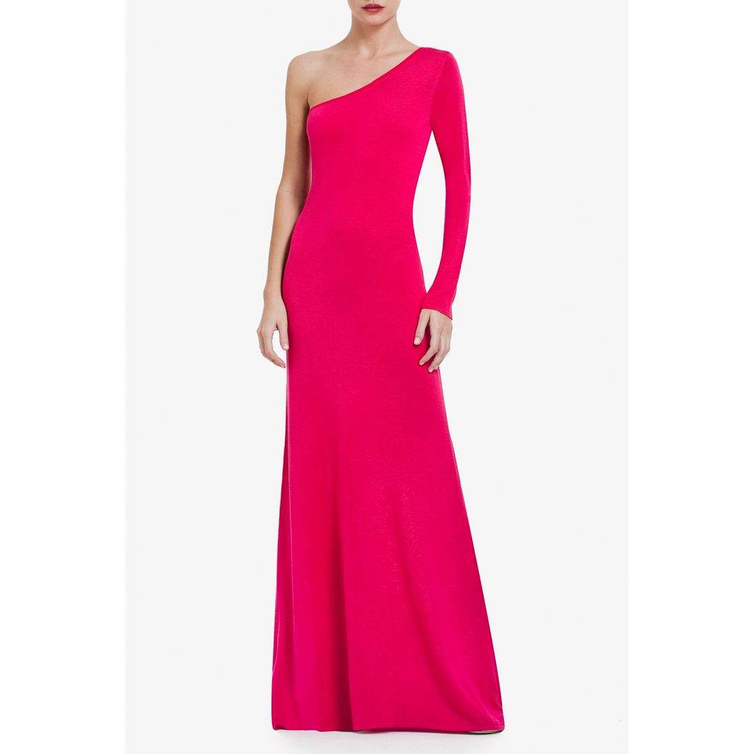 BCBGMAXAZRIA Anadia One-Shoulder Dress