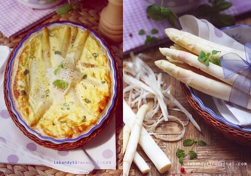 White asparagus cake