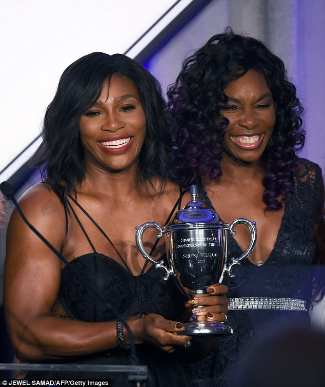 Venus, who introduced her sibling, gushed: 'It's been an honour to be your sister. It's the best job in the world, and your wins are my wins. Every single one'