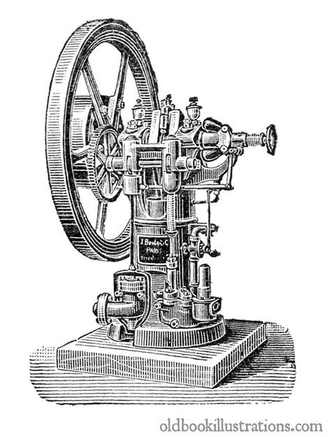 Gas Engine – Old Book Illustrations