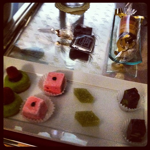 A small selection of the room service goodies
