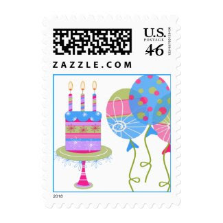 Colorful Birthday Stamp zazzle_stamp