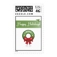 Happy Holidays Wreath - Postage