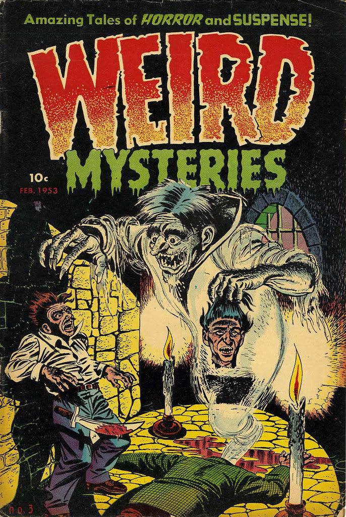 Weird Mysteries #3 Bernard Bailey Cover (Gillmor, 1953)