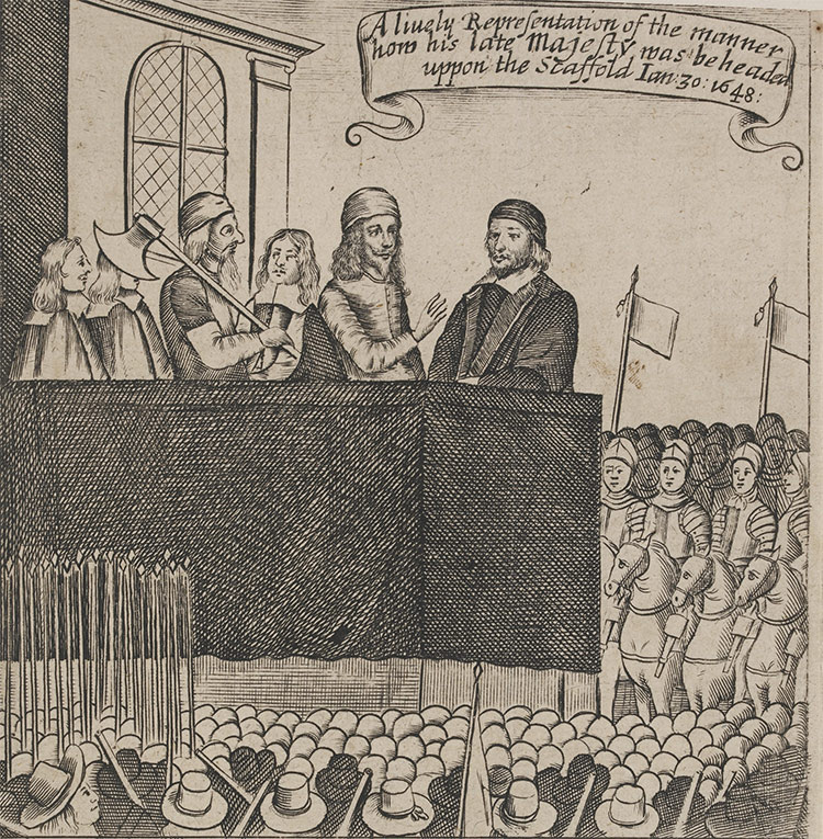 An anonymous print showing Charles I on the scaffold.