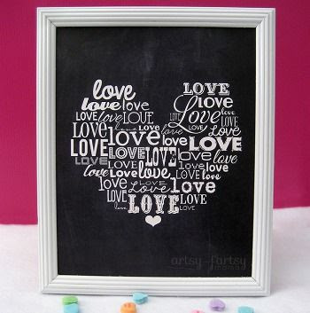 Love Word Art {Printable}