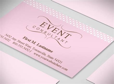 Wedding Planner Business Cards   Event Coordinator