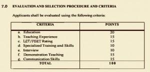 DepED Hiring Guidelines For TEACHER I Position