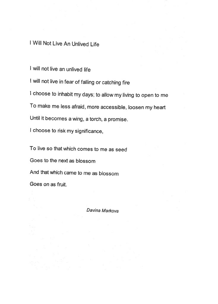 Writers Convention 2015 I Will Not Live An Unlived Life By Davina