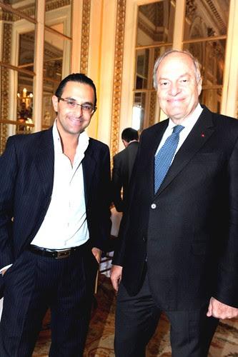 Arash Derambarsh et Michel Boyon (Président du CSA) au Ministère de la culture lors du e-G8 by Arash Derambarsh