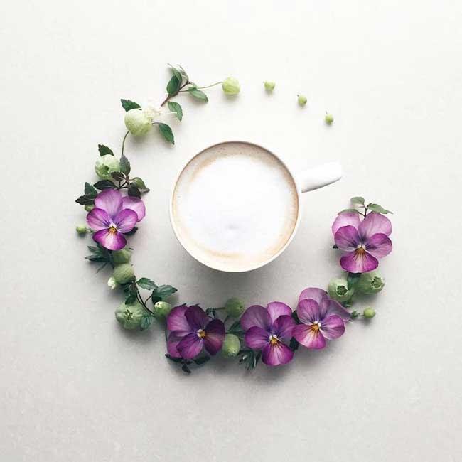 fleurs cafe sawa art croissant