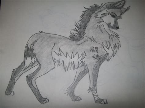 anime wolf drawings
