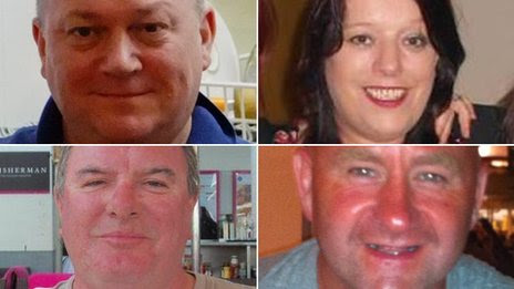 Clockwise from top left: George Allison, Sarah Darnley, Gary McCrossan, Duncan Munro