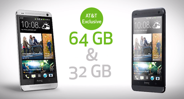 HTC One 64GB will arrive as AT&T exclusive video