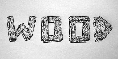wood on paper