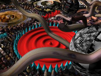 Chris Robinson, Eigler's Eyes, NanoArt 2006