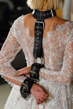 BDSM bridal dress