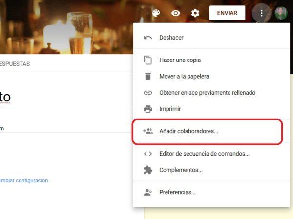 añadir colaboradores encuesta google