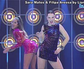 Sara Matos e Filipa Areosa sensuais no Lip Sync