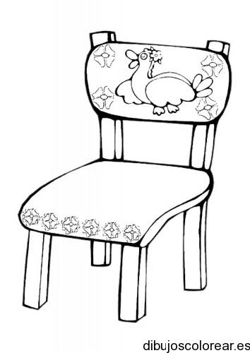 Dibujo De Una Silla Con Un Pato