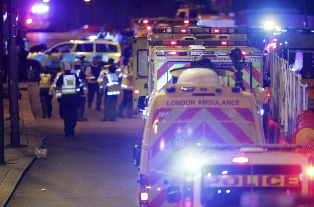 Há relatos de vítimas e feridos em Londres (Foto: Dominic Lipinski/PA via AP)