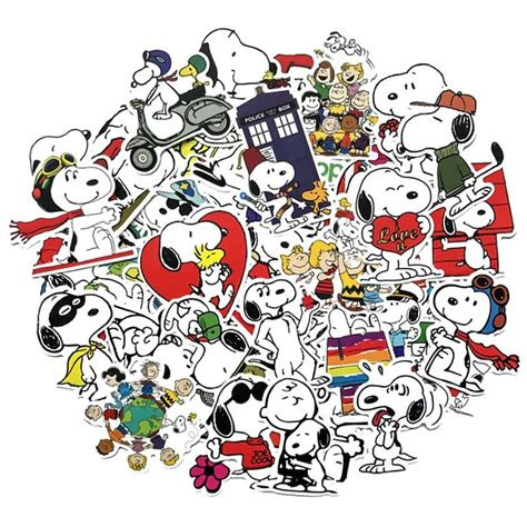 snoopy stickers pack   snoopy snoopy merchandise cute dogs