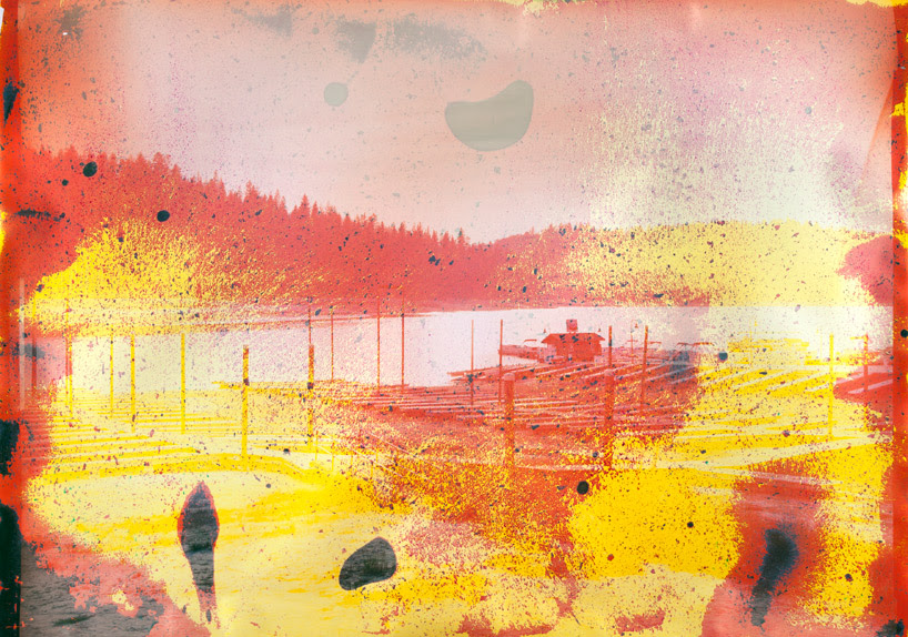 edible silk screens + lake water photographs by matthew brandt