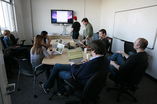 Revision 3s Friday afternoon staff meet by Robert Scoble, on Flickr