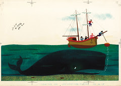Whale Ambergris. Original Disney Illustration, 1950s, Paul Hartley