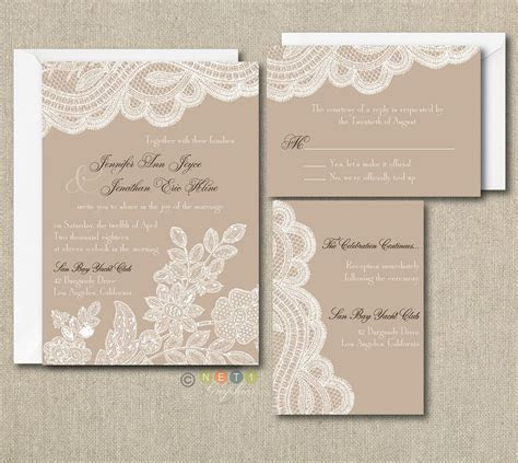 Details about 100 Personalized Custom rustic vintage lace