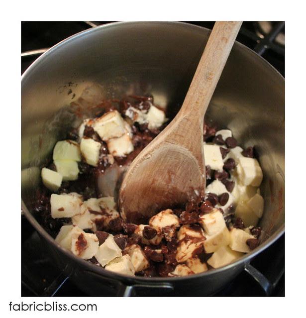 flourless chocolate cake - melt chocolate and butter 2