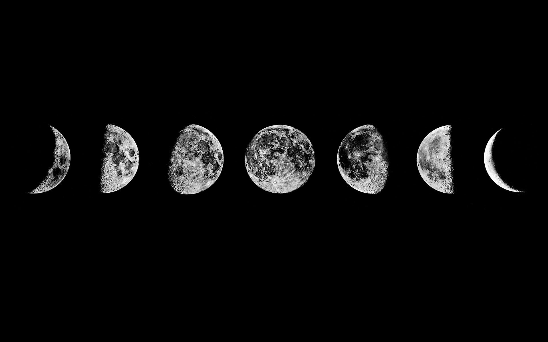 cute, iphone wallpaper, moon, moon phases, tumblr, wallpaper  image 1879062 by taraa on Favim.com