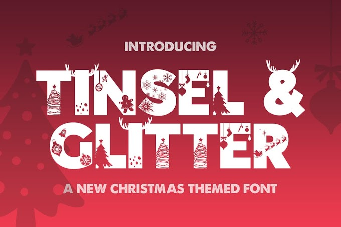 Tinsel & Glitter Silhouette Font